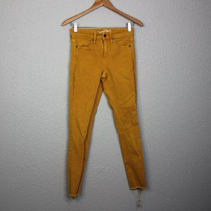 Universal Threads Mustard Yellow Skinny Jeans